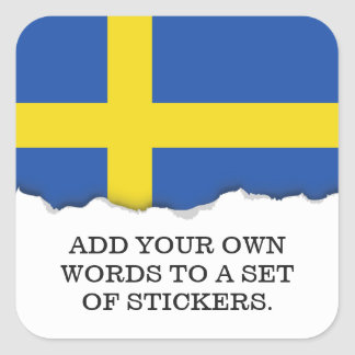 Flag of Sweden Square Sticker