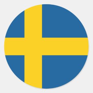 Flag of Sweden Classic Round Sticker