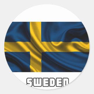 Flag of Sweden, Swedish Flag Classic Round Sticker
