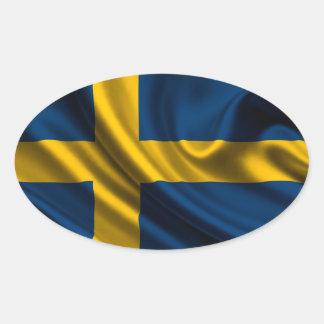 Flag of Sweden, Swedish Flag Oval Sticker