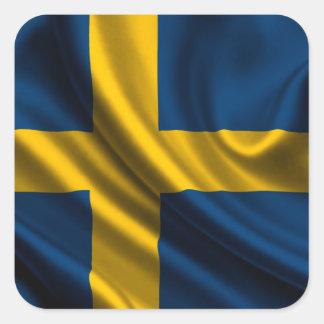 Flag of Sweden, Swedish Flag Square Sticker