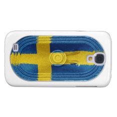 Flag Of Sweden Yellow Cross On Blue Galaxy S4 Case at Zazzle