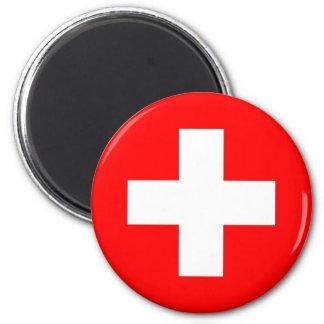 Flag of Switzerland 2 Inch Round Magnet