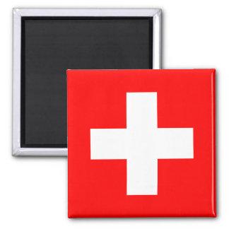 Flag of Switzerland 2 Inch Square Magnet