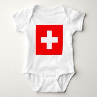 Flag of Switzerland Baby Bodysuit