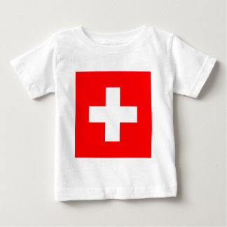 Flag of Switzerland Baby T-Shirt