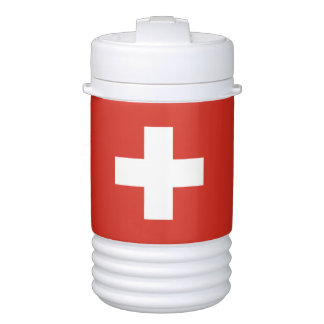 Flag of Switzerland Beverage Cooler