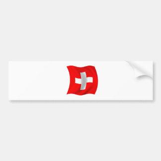 Flag of Switzerland Car Bumper Sticker