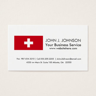 The flag of switzerland business cards templates zazzle flag of switzerland business card colourmoves Image collections