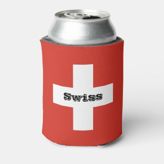 Flag of Switzerland Can Cooler