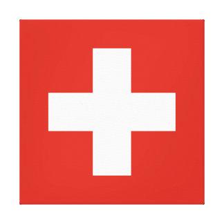 Flag of Switzerland Canvas Print