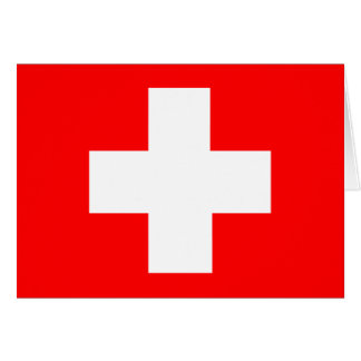 Flag of Switzerland Greeting Cards