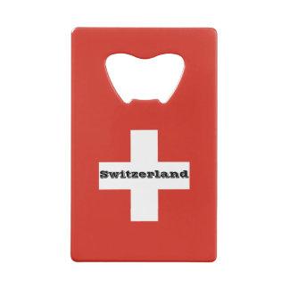 Flag of Switzerland Credit Card Bottle Opener