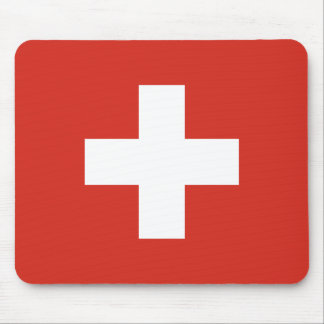 Flag of Switzerland - Die Nationalflagge der Schwe Mouse Pad