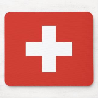 Flag of Switzerland Die Nationalflagge der Schweiz Mouse Pad