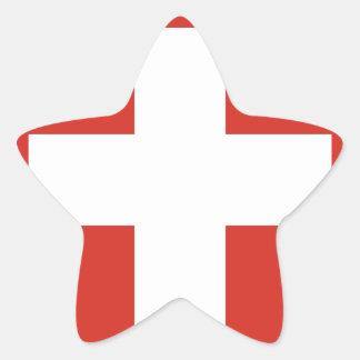 Flag of Switzerland Die Nationalflagge der Schweiz Star Sticker