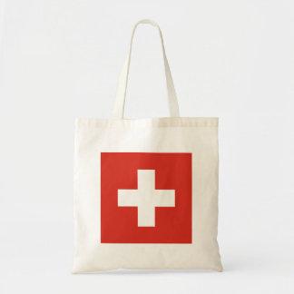 Flag of Switzerland Die Nationalflagge der Schweiz Tote Bag