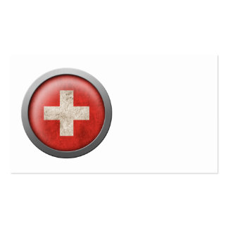 Flag of Switzerland Disc Business Card