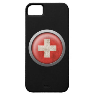 Flag of Switzerland Disc iPhone 5 Covers