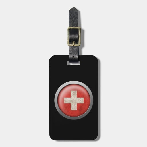 Flag of Switzerland Disc Tag For Luggage