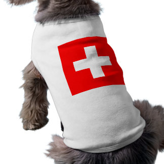 Flag of Switzerland Pet T-shirt