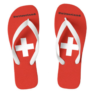 Flag of Switzerland Flip Flops