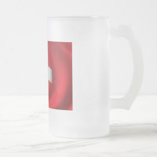 Flag of Switzerland Frosted Glass Beer Mug