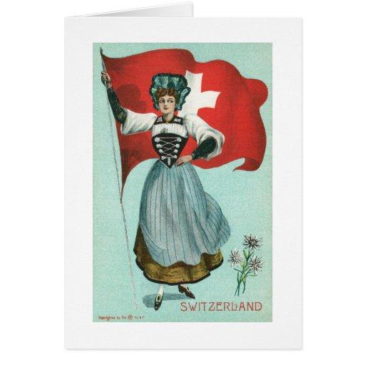 Flag of Switzerland Greeting Card