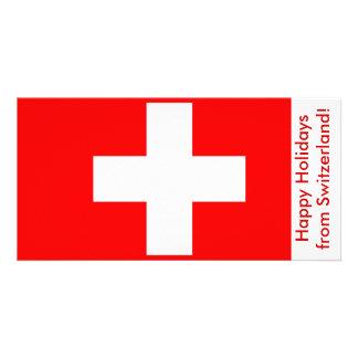 Flag of Switzerland, Happy Holidays Card