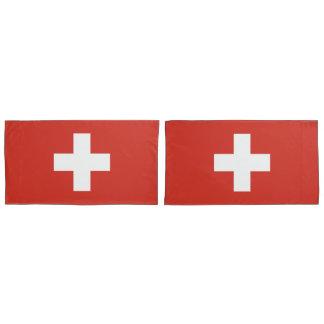 Flag of Switzerland king Pillow Case