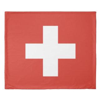 Flag of Switzerland king size Duvet Cover