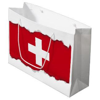 Flag of Switzerland Large Gift Bag