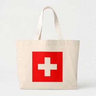 Flag of Switzerland Large Tote Bag