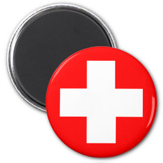 Flag of Switzerland Refrigerator Magnet