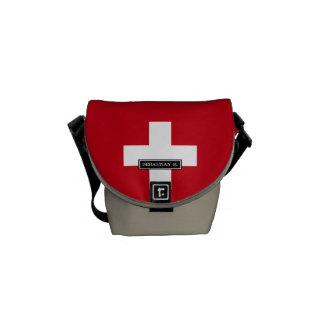 Flag of Switzerland Messenger Bag