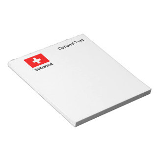 FLAG of SWITZERLAND Note Pad