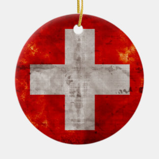 Flag of Switzerland Christmas Tree Ornaments
