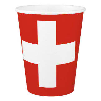 Flag of Switzerland Paper Cup