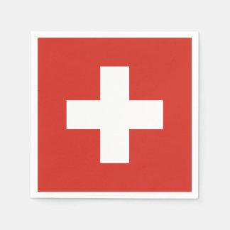 Flag of Switzerland Paper Napkin