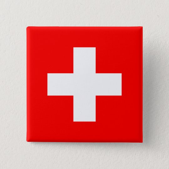 Flag of Switzerland Pinback Button