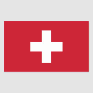 Flag of Switzerland Rectangular Sticker