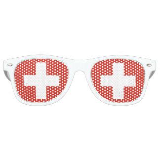 Flag of Switzerland Retro Sunglasses