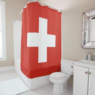 Flag of Switzerland Shower Curtain