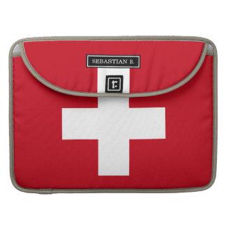 Flag of Switzerland Sleeve For MacBooks