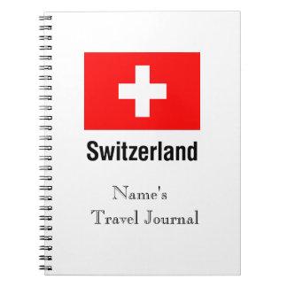 FLAG of SWITZERLAND Spiral Notebook