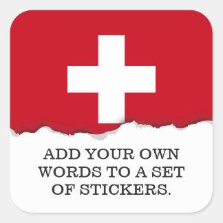 Flag of Switzerland Square Sticker