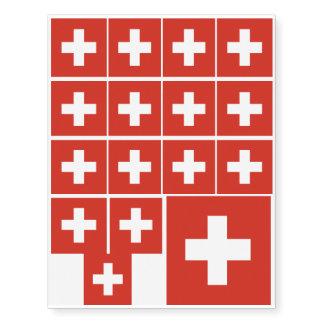 Flag of Switzerland Temporary Tattoos