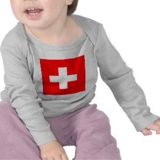 Flag of Switzerland Tee Shirts