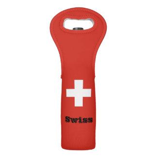 Flag of Switzerland Wine Bag