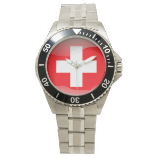 Flag of Switzerland Wrist Watch